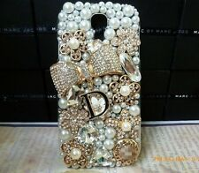 3D Bling Gold Bow Rose Crystal Diamond Case Cover OFSamsung Galaxy S4 NEW M21