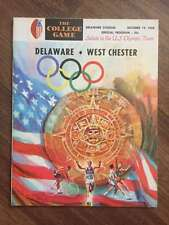 WEST CHESTER @ DELAWARE STATE COLLEGE FOOTBALL PROGRAM 1968 EX