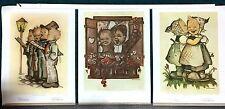 """Lot of 3 Goebel Collectors' Club Prints Sister Maria Innocentia Hummel 18""""x13.5"""""""