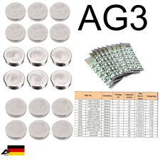 10er Blister AG3 392A CX41 LR41W Uhr Batterien Knopfzellen Alkaline Batterie