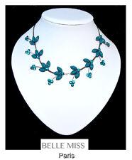 Luxus Halskette Statement kette  Belle Miss Paris Collier Bronze Farbe Strass
