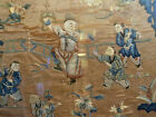 An Excellent Chinese Qing Dynasty Embroidered Silk Panel, Framed.