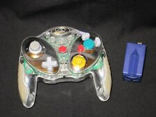 INTEC WIRELESS CONTROLLER CLEAR CHROME NINTENDO GAMECUBE WITH RECEIVER USED