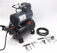 Switzer Double Action Airbrush Kit Compressor With Tank As186 Paint Nail Tatoo
