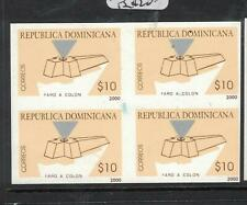 Dominican Republic SC 1371 Imperf Proof Block of Four MNH (5dwr)