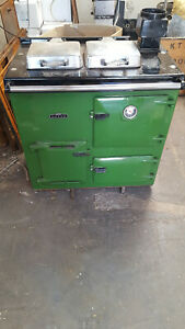 Rayburn 200 series converted to Electricity - Green ,chrome domes or cream