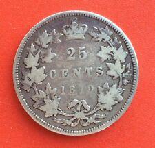CANADA -  Jolie monnaie de 25 Cents  1870 - Date plus rare