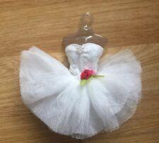 Pretty White Ballet dress for Barbie, Fashion & Trendy dolls.