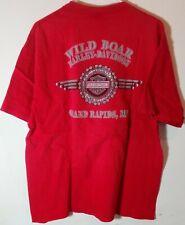 Harley Davidson Motorcycles 2003 Grand Rapids,Michigan Wild Boar T Shirt Sz XL