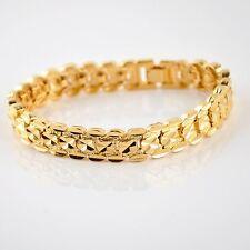 """18K Yellow Gold Filled Bracelet Women/Men's 8"""" Watch Link Chain 10MM GF Jewelry"""