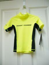 New Magic Marine Youth Kids Cube Rash Vest Short Sleeve Shirt Upf 50+ Sz S