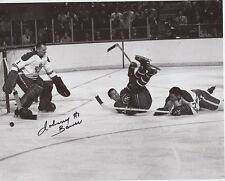 JOHNNY BOWER SIGNED TORONTO MAPLE LEAFS 8x10 PHOTO w/ COA