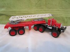 Vintage Plastic Monster Truck Fire Ladder Truck with Friction Drive