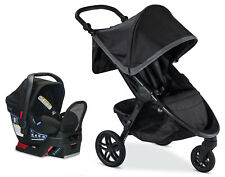 Britax 2018 B-Free Stroller & Endeavours Car Seat Travel System Pewter New!!