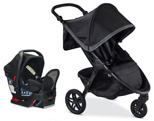 Britax B-Free Stroller & Endeavours Car Seat Travel System Pewter New!!