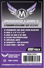 Mayday Games Standard American Clear Board Game Card Sleeves (Purple Pack)