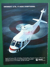 2/1997 PUB SIKORSKY AIRCRAFT HELICOPTERE SIKORSKY S-76 OFF-SHORE OIL SAR EMS AD