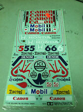 Vintage Original 1987 Tamiya Williams FW-11B Honda  Decal Sheet