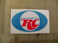 "Vintage RC Cola sticker decal sign 4""x2.4"""