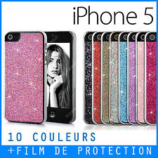 Coque, Housse iPhone 5S / SE - Case - Glitter - Strass Paillettes - Bling Bling