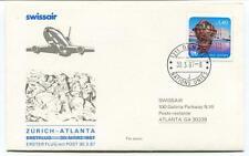 FFC 1987 Swissair First Flight Zurich Atlanta Galeria Parkway New York Onu