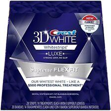 CREST 3D White Luxe SUPREME FLEX FIT Whitestrips Teeth Whitening Strips FLEXFIT