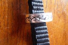 Ring Silber 925er SIX massiv Runen / Ranken Designer Fingerring 18 mm Silberring