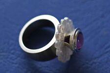Traum - Charlotte  - Wechselköpfchen mit Amethyst gefasst in massiv Silber