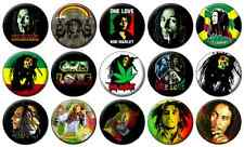 """BOB MARLEY - Lot of 15 - Pin Back - 1"""" Buttons Badges (One Inch) – Set"""