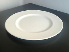 6 Simply White Fine Bone China Dinner Plates