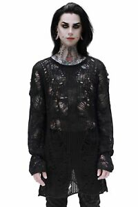 Killstar Gothic Goth Grunge Punk Unisex Pullover Strickpullover - Avery