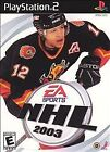 NHL 2003 GAME for PlayStation 2 - PS2
