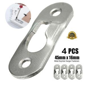 US Stock 4Pcs Hook Hanging Keyhole Hanger Hardware for Cabinet Picture Frame DIY