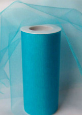 "1 plus 1/2 rolls Turquoise 6"" x 25Yd Tulle  Spool Wedding Bow Decoration Party"