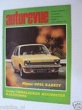 AUTOREVUE 1973-18A,OPEL KADETT,FIAT X 1/9,POSTER FORD EXCORT RALLYE SEIKO CANON