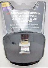 Monster Cable 90 degree HDMI adapter male HDMI to female HDMI 90 right angle HDM