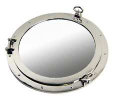 Porthole Mirror 20� Nickel Finish Over Solid Brass Wall Mount Nautical Home
