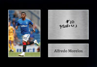 Alfredo Morelos Signed A4 Framed Printed Autograph Glasgow Rangers Print Gift