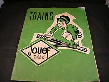 Catalogue JOUEF, trains électriques, 1959