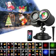 12 Slides Holiday Motion Landscape Light Moving Laser Projector LED Xmas Party