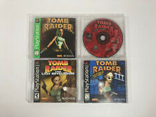 Tomb Raider 1, 2, 3 & Last Revelation 4 Game Lot - Sony PlayStation 1 - Ps1