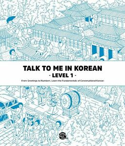 Talk To Me In Korean Level 1 Book Hangul Hangeul for beginners Grammar Textbook