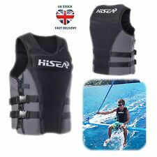Adults Kayak Life Jackets Buoyancy Aid Impact Vest Water Ski Wakeboard PFD Grey