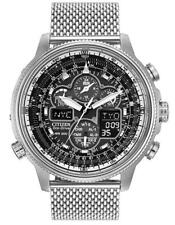 Citizen Eco-Drive JY8030-83E Navihawk Mesh Stainless Steel Chronograph Watch