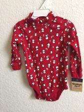 OshKosh Bgosh Infant Snowman Long Sleeve Sleeper Size 12...
