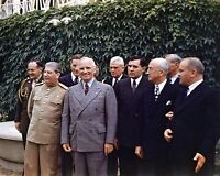 President Harry S. Truman with Joseph Stalin at Potsdam Conference Photo Print