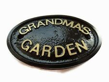 GRANDMAS GARDEN - GARDEN WALL PLAQUE FENCE OR WALL SIGN - BRAND NEW