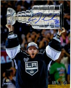 Jonathan Quick Signed Autographed 8x10 Photo Kings Holding Stanley Cup Steiner