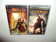 God of War: Ghost of Sparta + Chains of Olympus (Sony PSP, 2008) Adult Owned