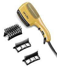 Ceramic Ionic Styler Hair Blow Dryer Straight Curl Comb Brush Silky Gold